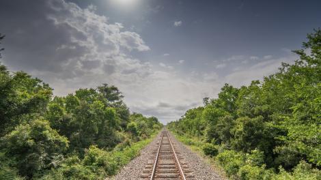 Railway through Western Louisiana