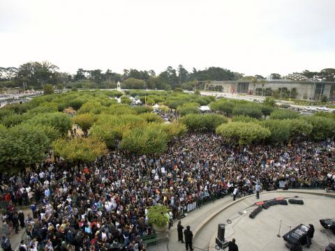 Outside Lands Music Festival en el Golden Gate Park de San Francisco, California
