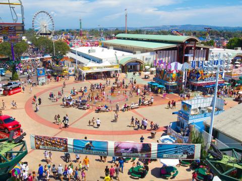 Vista aérea de la Orange County Fair
