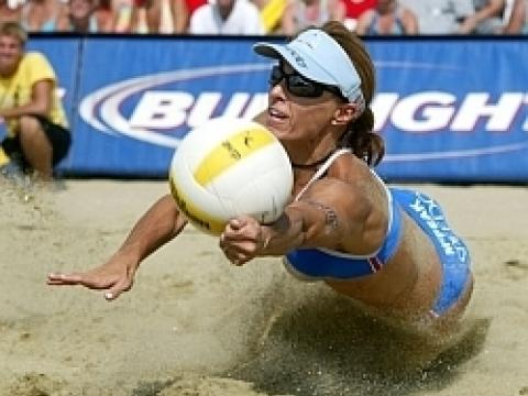 The AVP Volleyball Tournament en Huntington Beach Pier
