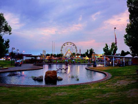 Atardecer sobre Montana Fair