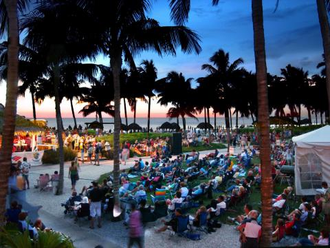 Waterfront Jazz performance in Naples, Florida as part of the SummerJazz on the Gulf series