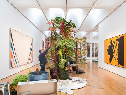 Creando una exposición para Art in Bloom en Raleigh, Carolina del Norte