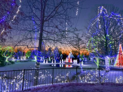 Exhibición Wildlights en el Columbus Zoo and Aquarium, Ohio