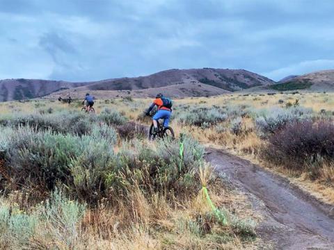 Ciclismo de montaña durante Pocatello Fall Ultra en Idaho