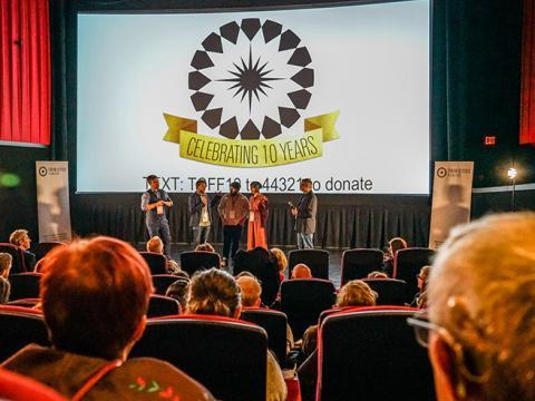 Sesión de preguntas y respuestas sobre el escenario durante el Twin Cities Film Fest